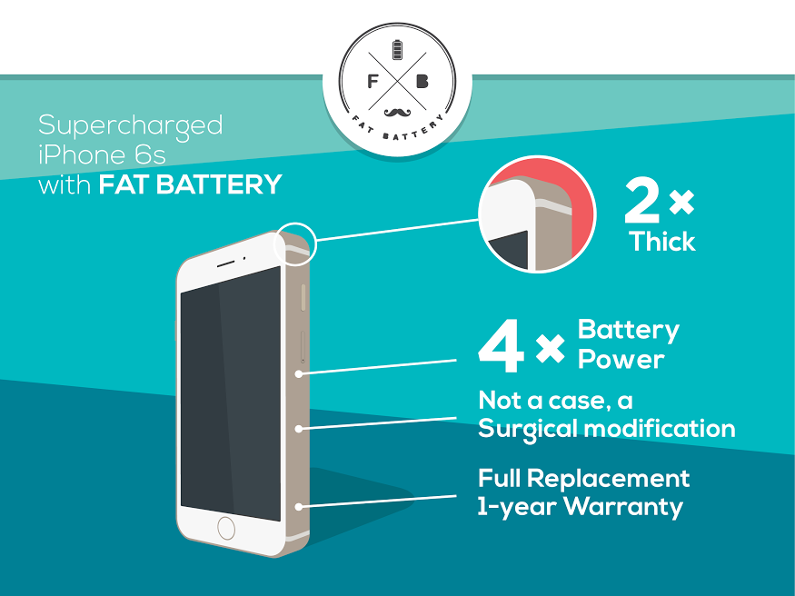 Fat battery for iPhone 6s 2