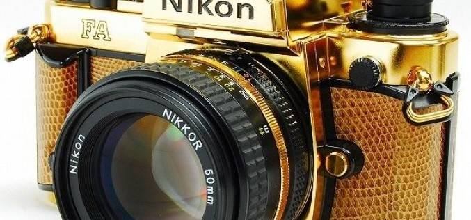 Золотая камера Nikon FA (фото)