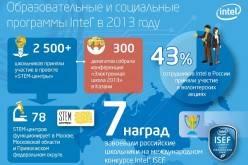 INTEL подвела итоги реализации социальных и образовательных программ в России за 2013 год
