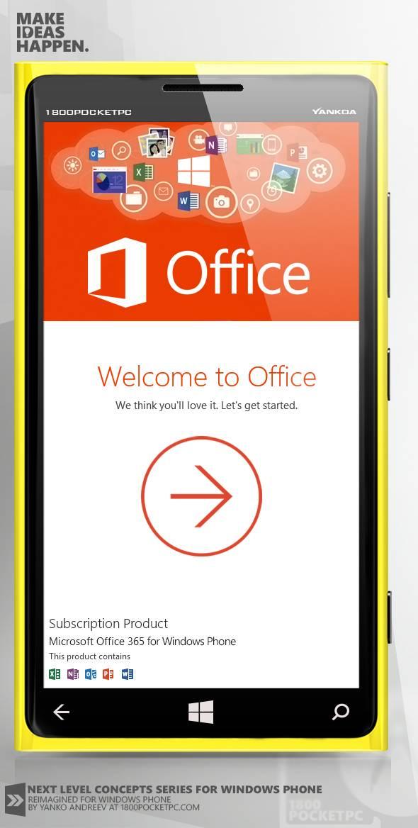 Концептуальный Microsoft Office для Windows Phone 8 ...