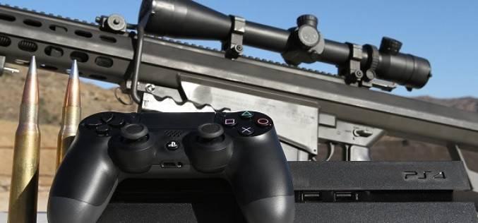 PlayStation 4 против винтовки 50 калибра (видео)