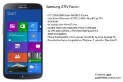 Samsung ATIV Fusion — 6.5″ фаблет на платформе Intel Silvermont