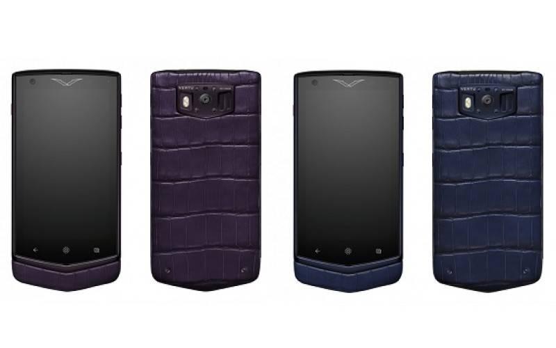 Vertu официально представила смартфоны Constellation Pure Navy Alligator и Pure Plum Alligator