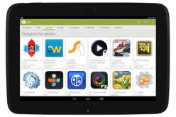 Google Play адаптирован для планшетов
