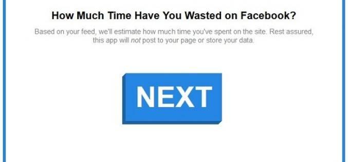 Приложение для расчета потраченного времени в соцсети Facebook