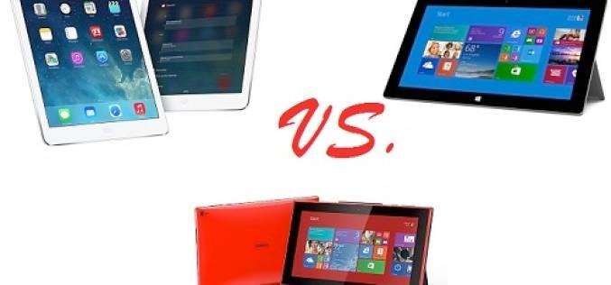 Сравнение характеристик iPad Air, Surface 2 и Lumia 2520