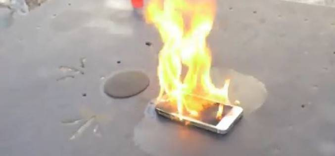 iPhone 5S в тесте на огнестойкость (видео)