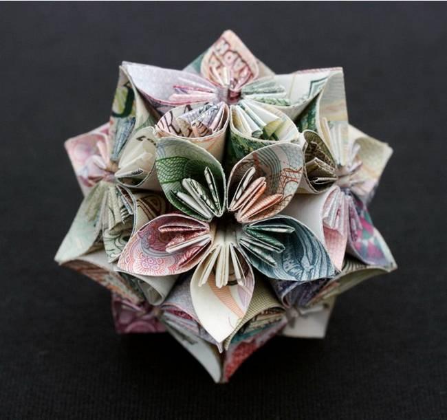 Как сделать цветы из денег видео