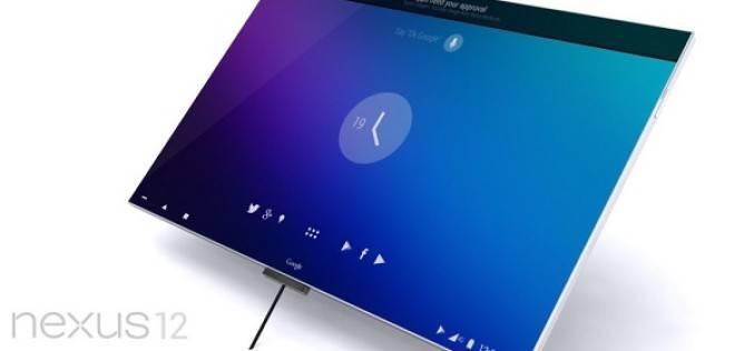 3D-рендер планшета Nexus 12 с пользовательским интерфейсом Android 4.5
