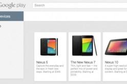 Стоимость смартфона Nexus 5 в Google Play стартует с 349 долларов