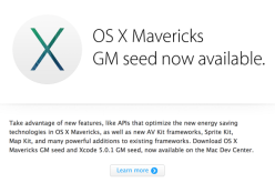 Apple OS X Mavericks доросла до статуса Gold Master