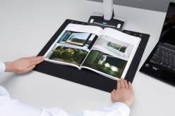 Универсальный сканер Fujitsu ScanSnap SV600 оцифровывает бумажные документы методом бесконтактного сканирования