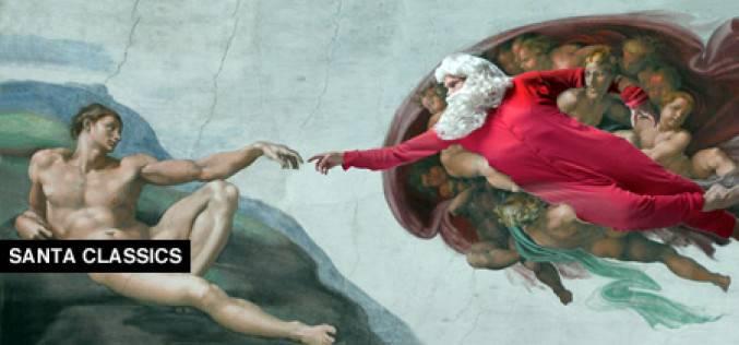 Санта Клаус и классическая живопись (фото)